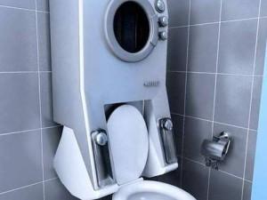 Дизайн туалета со стиральной машиной