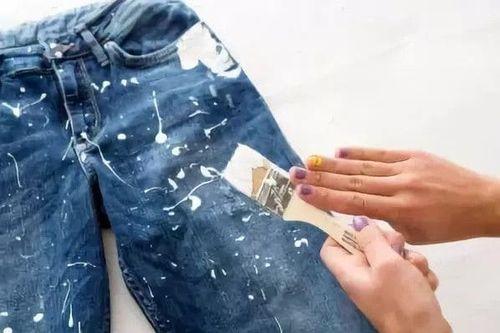 Масляная краска на джинсах