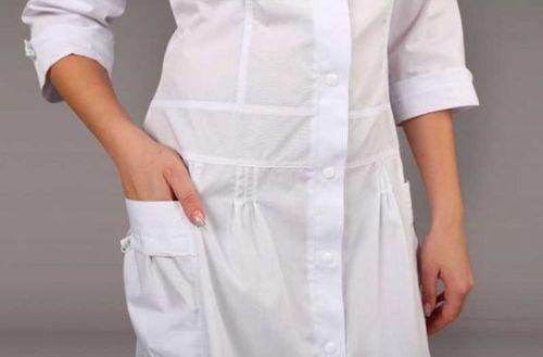 Чистый белый халат