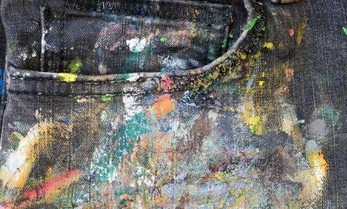 Акриловые краски на джинсах