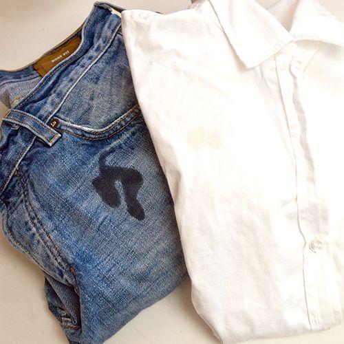 Мазут на джинсах