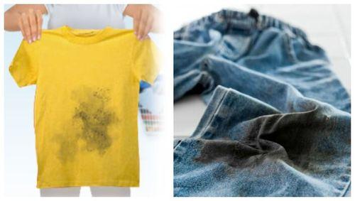 Загрязнения на одежде