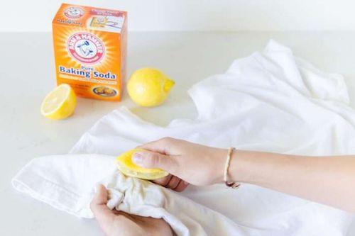 Удаление пятен лимоном