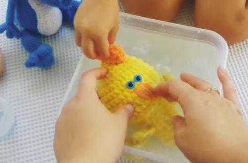 Стирка вязаной игрушки